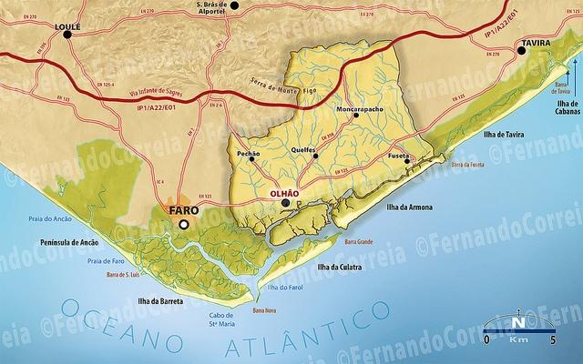 mapa da ria formosa Jul 15 – Uma Ria prá lá de Formosa.. | Um post por dia mapa da ria formosa